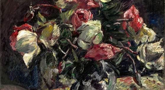"""Lovis Corinth (Tapiau/Ostpreußen 1858 – 1925 Zandvoort) """"Helle Rosen"""". 1915 Schätzpreis:250.000 - 350.000 EUR"""
