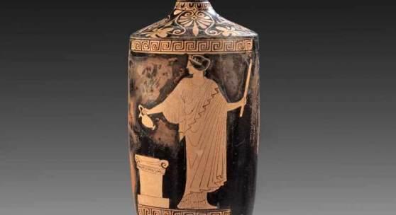 Attische Lekythos des Oreithyia-Malers. 470 - 460 v. Chr. Aufrufpreis:44.000 EUR