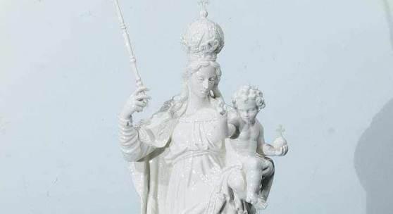 Patrona Bavariae, auch Schutzfrau Bayerns genannt. NYMPHENBURG. 20. Jahrhundert. Mindestpreis:490 EUR