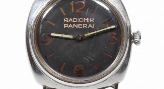 Vintage Panerai - Kampfschwimmer-Armbanduhr Die Schoss-Radiomir. Fa. Panerai (Italien) und Fa. Rolex (Schweiz). Aufrufpreis:58.000 EUR Schätzpreis:70.000 EUR