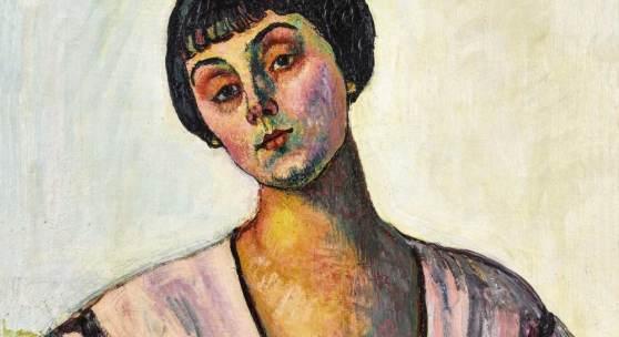 HODLER, FERDINAND Bern 1853 - 1918 Genève Bildnis Jeanne Amélie Günzburger-Malan. Schätzpreis:280.000 CHF Zuschlagspreis:230.000 CHF