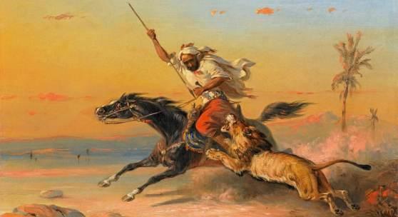 Raden Saleh Ben Jaggia Löwenjagd | 1849 Öl/Lw | 30 x 40cm Ergebnis: 153.600 Euro