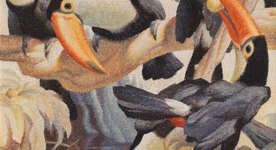 Norbertine Bresslern-Roth * Tukanjäger, 1943 Öl auf Jute; 90 × 70 cm, Schätzpreis:20.000 - 40.000 EUR