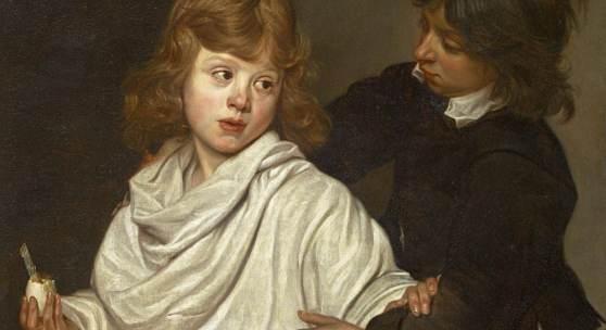 """Wautier, Michaelina 1614 Mons - 1689 Brüssel """"Elk zijn meug"""" (Jeder nach seinem Geschmack). Öl auf Leinwand. Doubliert. 66 x 82cm. Rahmen.   Schätzpreis:60.000 - 80.000 EUR"""