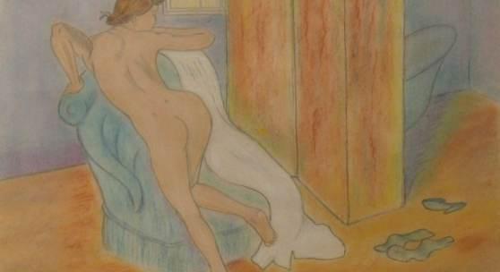 """Valadon, Suzanne (1865 Bessines-sur-Gartempe - 1938 Paris) """"Weiblicher Akt"""" 1928 Mindestpreis:2.000 EUR"""