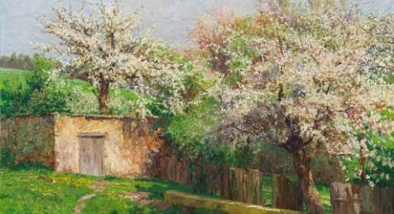 Olga Wisinger-Florian Schätzpreis € 80.000 - 160.000 (Wien 1844-1926 Wien) Frühling in Felling bei Gföhl, 1908