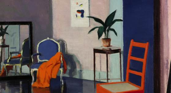Francis Campbell Boileau Cadell Interior, The Red Chair oil on canvas Estimate £250,000-350,000