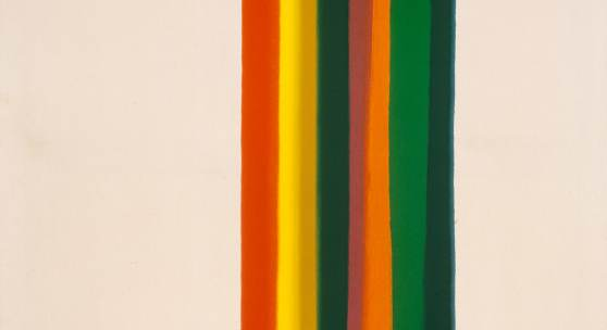 Morris Louis Parting of Waters, 1961 Acryl auf Leinwand, 228,5 x 131 cm Kunsthaus Zürich, © 2014 ProLitteris, Zürich
