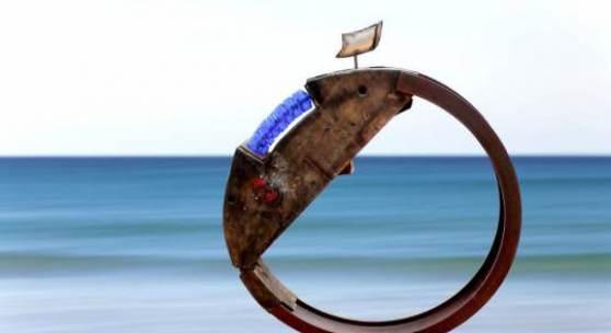 21. Sculpture Link Zeedijk von Heist-West bis an Het Zoute Tour du monde avec ocean Phil Billen Courtesy d'Haudrecy Art Gallery