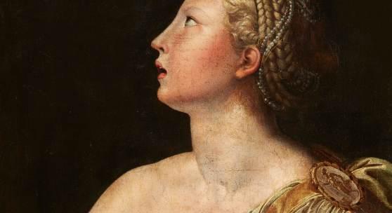 (Lot 112). Auf € 4/5.000 kommt eine fein gemalte Lukretia eines Italienischen Meisters des 16. Jh. nach dem Gemälde von Parmigianino im Museo di Capodimonte in Neapel (Lot 62). Ein Niederländischer Meister des 17. Jh.