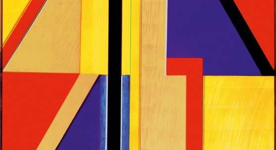 Wandlungen II, 1988, Öl, Gold auf Leinwand, 100 x 100 cm