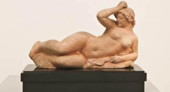 Aristide Maillol Femme couchée, 1900 Terrakotta, 14,5 x 23,5 x 10 cm Kunsthaus Zürich, Schenkung S. Staub-Schober © 2012 ProLitteris, Zürich