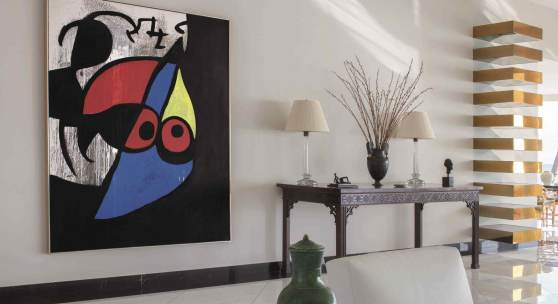 Joan Miró Femme, oiseau Painted circa 1969 Oil on canvas 85 x 68 1⁄2 inches Estimate $10/15 million