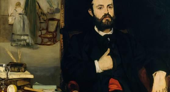Edouard Manet, Bildnis des Dichters Zacharie Astruc, 1866 auf Leinwand, 90,5 x 116 cm, Kunsthalle Bremen Der Kunstverein in Bremen