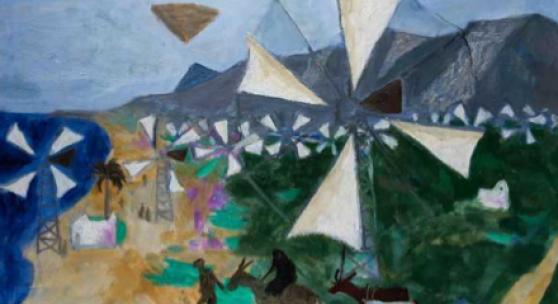 Manning Fine Art: Cretan Windmills, Julian Trevelyan (1910-1988)