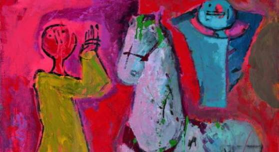 Marino Marini (1901 - 1980), Il Circo, 1958/59, Öl/Tempera auf Leinwand, 100 x 80 cm, Schätzwert € 400.000 - 600.000 Auktion 22. Mai 2014