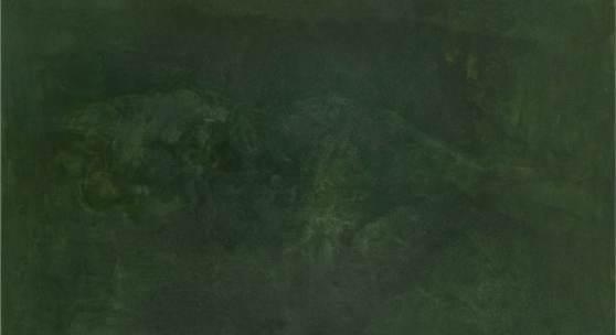 "Martin Grandits, ""overpainting m.I."" 2018, Öl Hasenleim auf Leinwand, 220 x 150 cm © Courtesy the artist"