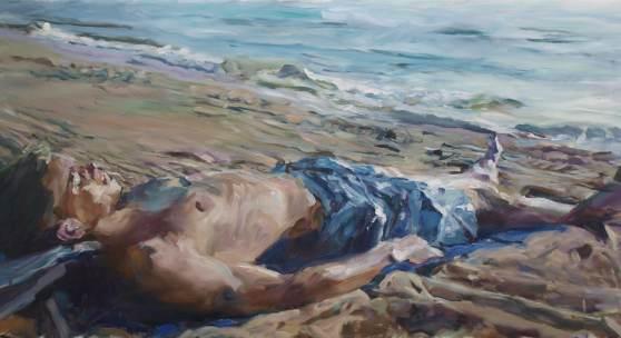 Martin-Jan van Santen, Shattered 2016, Öl auf Leinwand, 60 x 120 cm