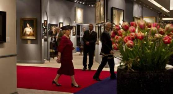 Queen Beatrix of the Netherlands visits TEFAF Maastricht 2012 Photo: Harry Heuts