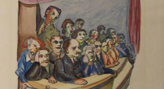 Ludwig Meidner »Zuschauer« 1943
