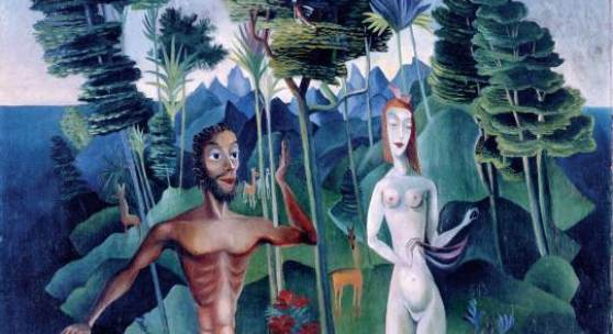 Carlo Mense Adam und Eva im Paradies, um 1919 Öl auf Leinwand  Kunstmuseum Bonn  © Foto Reni Hansen