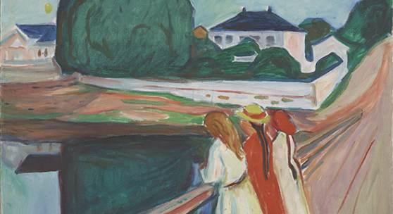 Edvard Munch, Die Mädchen auf der Brücke, 1927, Munch Museum Oslo
