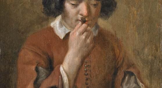 Michaelina Wautier (1614 - 1689) Knabe mit Tabak Öl auf Holz | 24,7 x 18,7cm  Taxe: 90.000 - 120.000 Euro