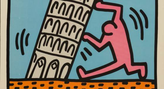 Keith Haring (1958-1990), Pisa 89, 1989, Offsetdruck, 100 x 79,8 cm, © Keith Haring Foundation
