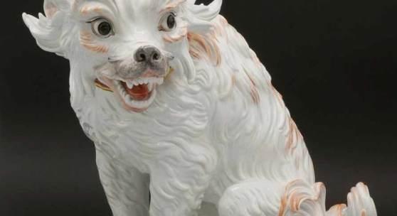 Modell Johann Joachim Kaendler, Meissen Bologneser Hund, Entwurf um 1734 Mindestpreis:12.000 EUR Aufrufpreis:12.000 EUR