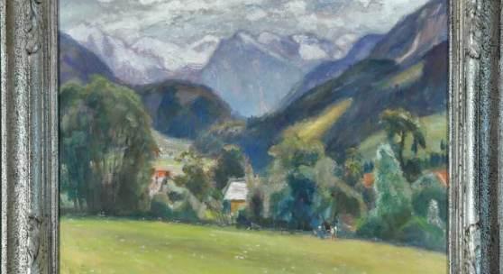 "Modersohn, Otto, 1865 Soest -1943 Rotenburg/Wümme Öl/Lwd, 57 x 74 cm, "" Landschaft am Gailenberg "", u.r. sign., dat. (19)31  Mindestpreis:8.000 EUR"
