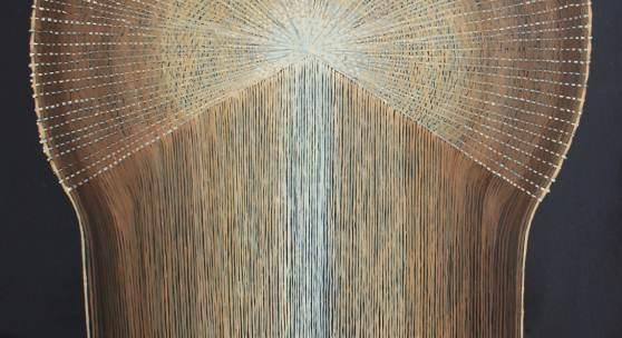 Mona Ardeleanu, Pliss 2019 / V 2019, Öl auf Leinwand, 70 x 50 cm