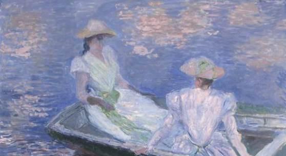 Claude Monet, Auf dem Boot (Ausschnitt), 1887, Öl auf Leinwand © National Museum of Western Art, Tokio