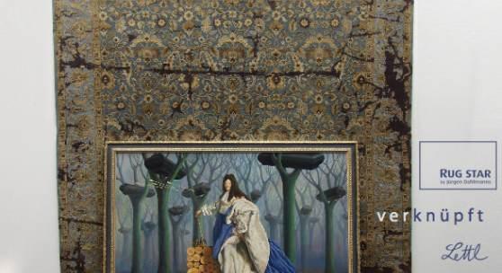 """Bild: Die Ermordung Ludwig XIV. Teppich: Rajasthan, Design """"Crack"""""""