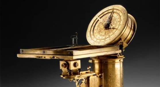 """Wagenwegmesser (4.2 MB) Christoph Trechsler d. Ä. Dresden, 1584 Signiert: """"C. T. 1584"""" Messing, vergoldet, graviert, punziert, geätzt, Eisen © Staatliche Kunstsammlungen Dresden"""