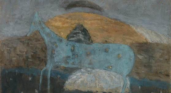 Abb.: Cavallo azzurro, Öl/Leinwand, 1951, Galerie Magnet