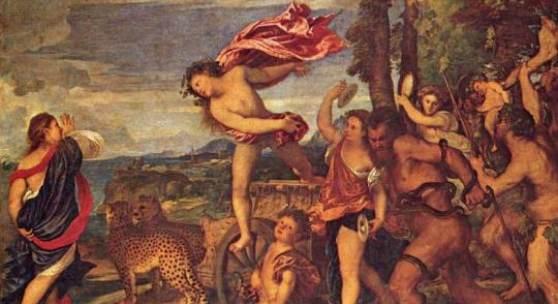 Diese Bilder-Vorlage Mytologien für den Camerino d Alabastro (Bacchus und Ariadne) Von Tizian als hochwertiges, handgemaltes Gemälde. Wir malen Ihr Ölgemälde nach Ihrer Vorlage. Originalformat: 175 x 190 cm Entstanden: 1522-1523, Standort: National Gallery, London