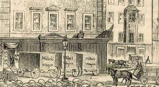 """<p>In einem """"Illustrierten Familienblatt"""" mit Namen """"Die Gartenlaube"""" (ehemals wöchentlich erscheinende Zeitschrift) habe ich eine interessante Darstellung der Gebäude Neumarkt 13 und 14 gefunden. Die Zeitschrift stammt aus dem Jahr 1863. Bildmaterial: www.architekturforum.net</p>"""