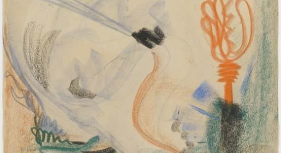 Barnett Newman, Ohne Titel, 1944, Foto: Kunstmuseum Basel, Martin P. Bühler