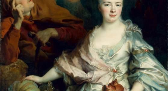 Nicolas de Largillierre, Bildnis einer Dame als Pomona Öl auf Leinwand; 146,5 x 105 cm  © SKD, Foto: Elke Estel/Hans-Peter Klut