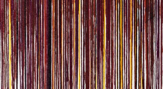 Hermann Nitsch, Schüttbild, 2011, Acryl auf Leinwand, 202 x 152 cm, Courtesy Elisabeth & Klaus Thoman Innsbruck/Vienna