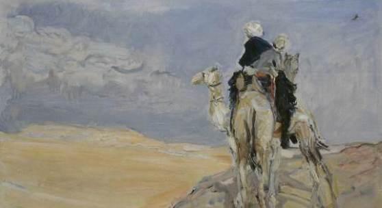 Max Selvogt, Sandsturm in der Lybischen Wüste, 1914, Öl auf Leinwand, Galerie Neue Meister, Staatliche Kunstsammlungen Dresden, Foto: Estel/Klut