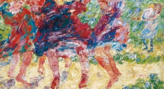 "Emil Nolde ""Wildtanzende Kinder"", 1909, Dauerleihgabe des Kultusministeriums © Nolde Stiftung Seebüll, Foto: Kunsthalle zu Kiel"