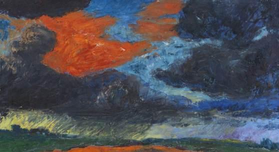 Emil Nolde Herbstwolken, Friesland Öl auf Leinwand, 1929 73,5 x 106,5 cm / 28.9 x 41.9 inches Schätzpreis: € 1.200.000-1.500.000