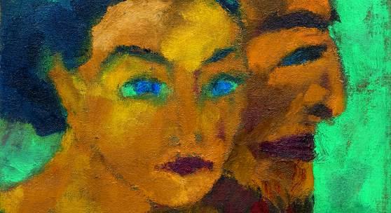 EMIL NOLDE (Nolde 1867 - 1956 Seebüll) Doppelbild (Sie seltsames Licht). 1918. Öl auf Leinwand. 60,6 x 56,2 cm. CHF 600 000 / 900 000