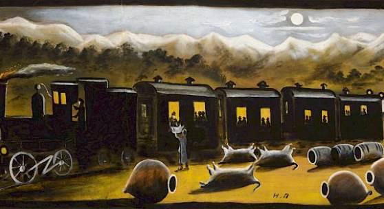 Niko Pirosmani | The Kakhetian Train | © Infinitart Foundation