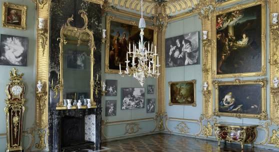 Die Blaue Kammer im Neuen Palais. Foto: SPSG / Daniel Lindner