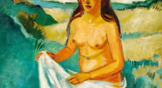 Hermann Max Pechstein Junges Mädchen am Meer 1923 Öl auf Leinwand 81 x 100,5cm Taxe: 300.000 - 500.000 Euro