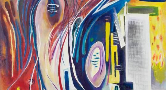Hilla von Rebay, With Tenderness, 1946 Öl auf Leinwand, 84 x 77 cm Kunsthaus Zürich, Geschenk der Künstlerin, 1947, © 2019 The Hilla von Rebay Foundation