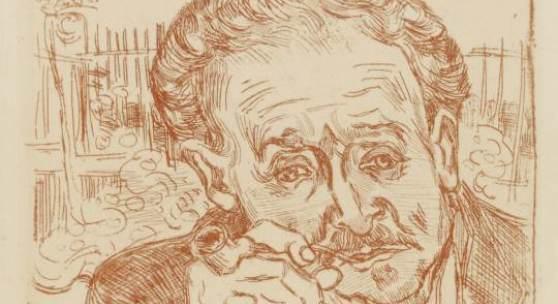 Vincent van Gogh (1853–1890) L'Homme à la Pipe, 1890 Radierung , gedruckt in Rot, 333 x 235 mm Graphische Sammlung, Städel Museum Frankfurt am Main Foto: Städel Museum - ARTOTHEK