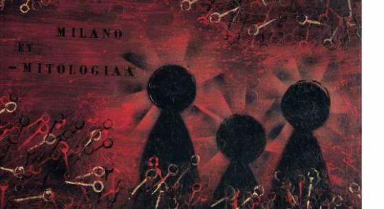 Piero Manzoni (1933–1963) Milano et-mitologiaa (Mailand und Mythologie), 1956 Öl auf Bord Privatsammlung © VG Bild-Kunst, Bonn 2013 95 x 130 cm